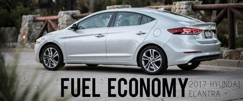 Gas Mileage For Hyundai Elantra by 2017 Hyundai Elantra Fuel Economy