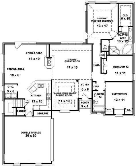 Bedroom Bath House Plan Plans Floor Bathroom With 2 Open