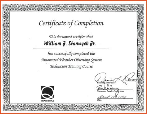 certificates of completion for kids certificate of completion template program format