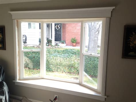 Bay Window Interior Trim interior view of simonton bay window with custom trim work