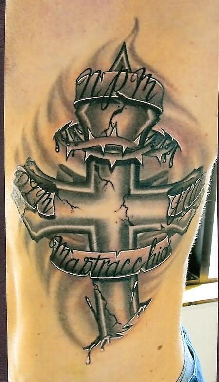 latest cross memorial tattoo designs