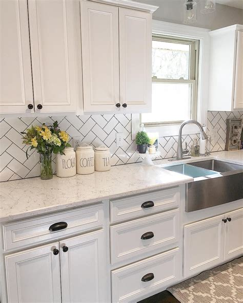 backsplash for white kitchen white kitchen kitchen decor subway tile herringbone