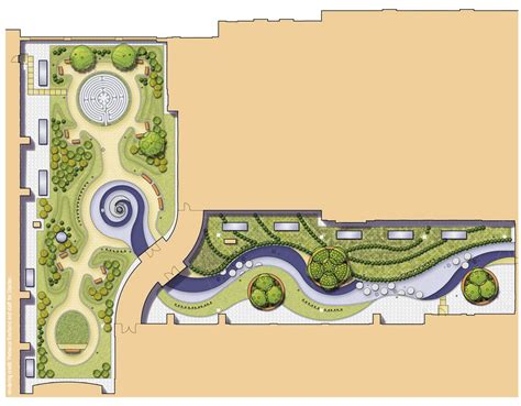 landscape plan rendering baystate medical center hospital of the future massmutual wing green roof plan rendering