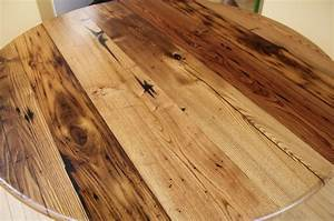 Wormy Chestnut Round Table Reclaimed Wood