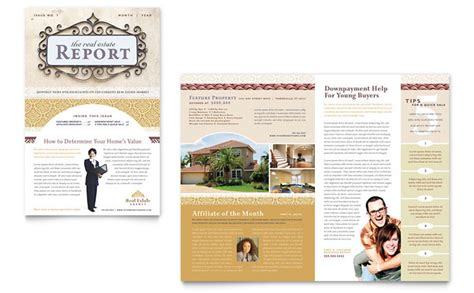 real estate newsletter templates luxury real estate newsletter template design