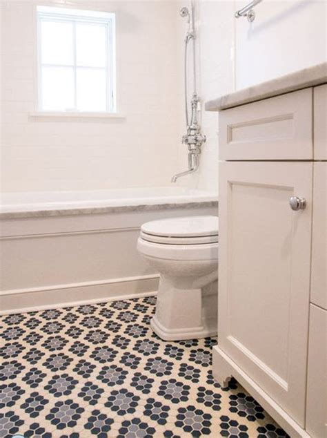 Black And White Hexagon Tile Bathroom 24 Black And White Hexagon Bathroom Tile Ideas And Pictures