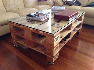 Plaque De Verre Pour Table : table basse palette top 69 des id es les plus originales ~ Dailycaller-alerts.com Idées de Décoration