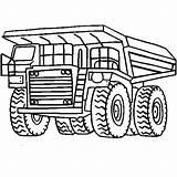 Coloring Truck Dump Mining Mack Monster Tonka Peterbilt Tow Huge Drawings Line Super Working Garbage Trucks Printable Clipart Getcolorings Clipartmag sketch template