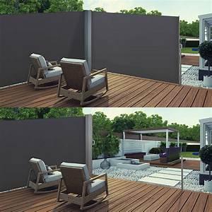 Paravent De Jardin : paravent double r tractable de jardin et terrasse ~ Melissatoandfro.com Idées de Décoration