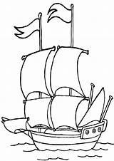 Sailboat Coloring sketch template