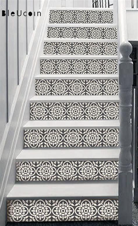 encaustic moroccan tile wall stair floor  adhesive