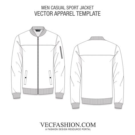 Sports Jacket Template by Vector Apparel Templates