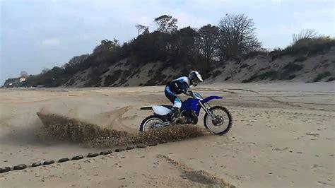 yz 250 track yamaha yz 250 2stroke sand track burnout mix youtube