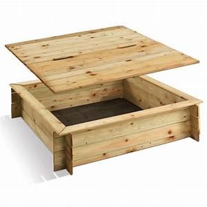 Bac En Bois Pour Plantes : bac sable bois trait avec couvercle plantes et jardins ~ Dailycaller-alerts.com Idées de Décoration