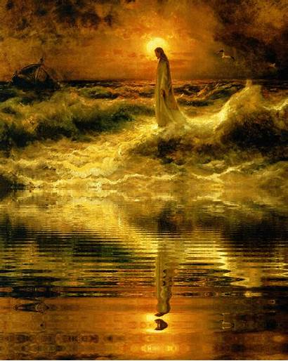 Jesus God Christ Christian Water Walking Anything