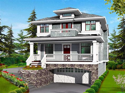 classic craftsman styling  drive  garage jd architectural designs house plans