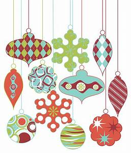 Modern Christmas Ornament Clipart