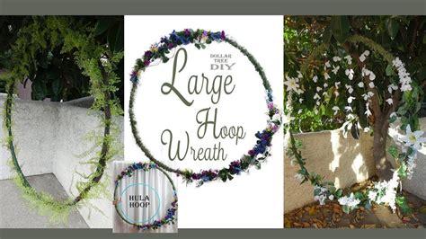Large Hoop Wreath Diy Wedding Wreath Floral Wreath