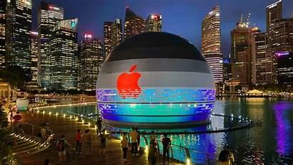 Apple Singapore Marina Bay Floating Sands Spherical