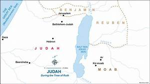 Map of Judah and Moab during the time of Ruth (Judges ...