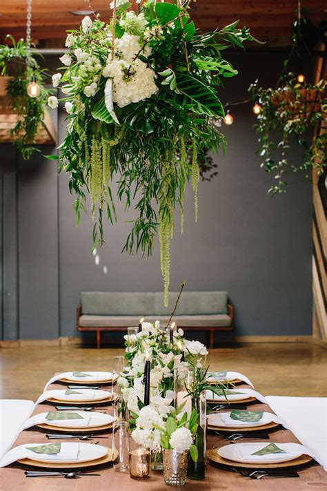 hanging floral inspiration wedding party ideas