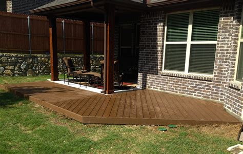 deck wraps around patio in mckinney hundt patio