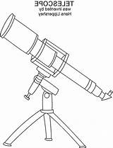 Telescope Coloring Printable Pages sketch template