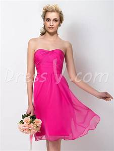 short hot pink bridesmaid dresses dress fa With short pink wedding dresses