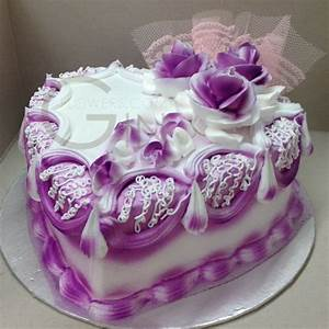 Pin Square Birthday Cake With Purple Bow And Yellow ...