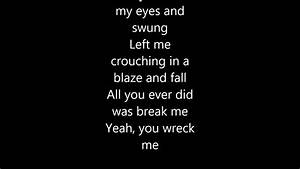 Miley Cyrus - Wrecking Ball With Lyrics - YouTube