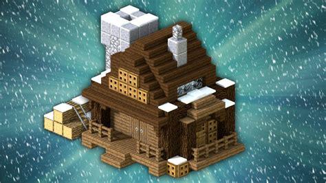 build  winter house minecraft youtube