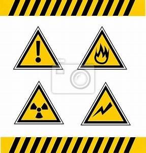 Cuadro señales de precaución • Posters y Cuadros sobre tela • PIXERS es