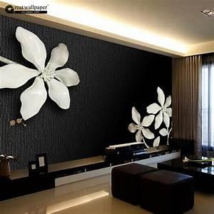 Aliexpresscom : Buy Custom Any Size 3D Wall Mural, Black ...