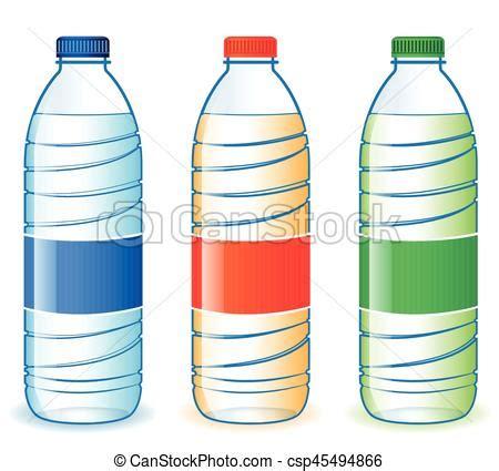 Botellas tres plástico Botellas tres ilustración vector clip