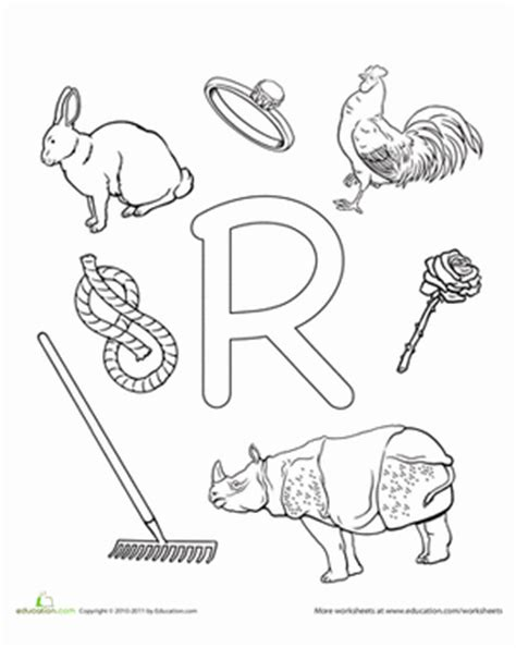 r is for worksheet education