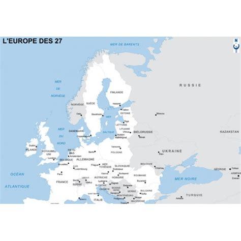 Carte Europe Capitales by Carte D Europe Politique Des 27