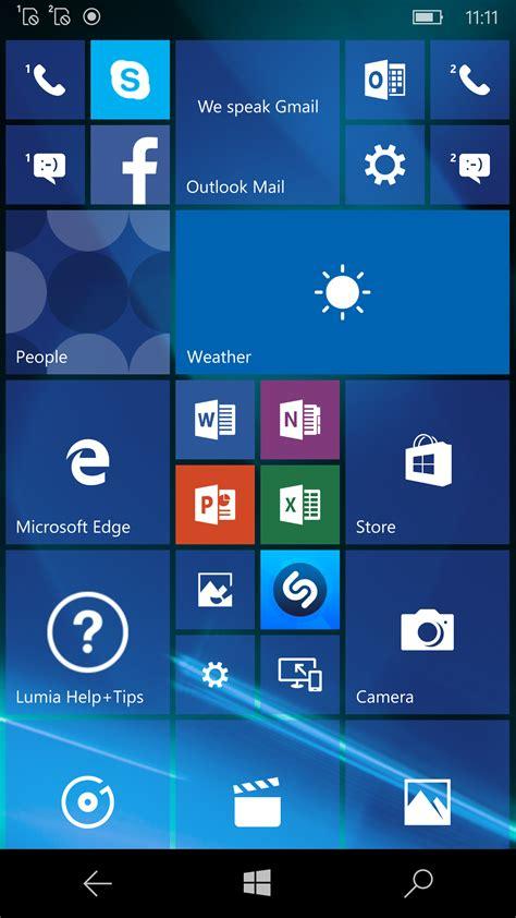 tile for phone windows 10 mobile windows hello continuum microsoft