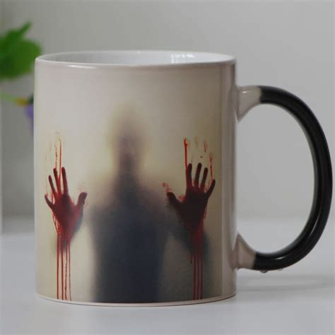 This magic coffee mug changes colour with the temperature, pour your hot drink & discover the hidden lovely pet below!☕. Aliexpress.com : Buy Drop shipping both sides Zombie Color Changing mug Tea cup Heat sensitive ...