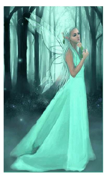Fairy Fantasy Glitter Graphics Forest Gifs Fairies