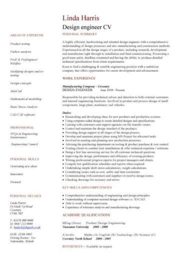 Technical Cv by Engineering Cv Template Engineer Manufacturing Resume