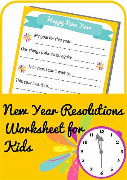 Resolutions Worksheet Worksheets Printable Activities Children Eve