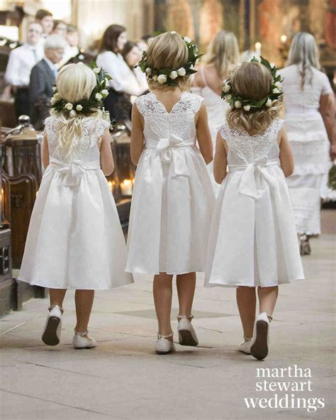 dressed flower girls  real weddings martha
