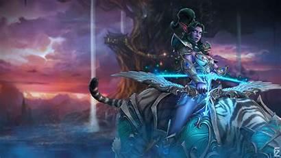 Tyrande Warcraft 4k Uhd Whisperwind Wallpapers Gilded