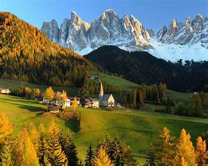 Switzerland, Castle, Autumn, Tree, Beauty, Hill, Widescreen