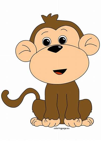 Monkey Clipart Clip Coloring Mokey Animal Clipartandscrap
