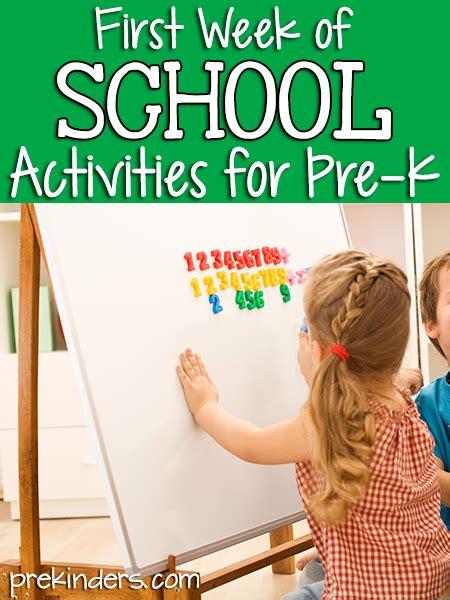 beginning  school activities prekinders