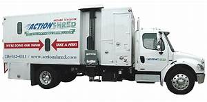 mobile shredding service action shred of texas With document shredding truck