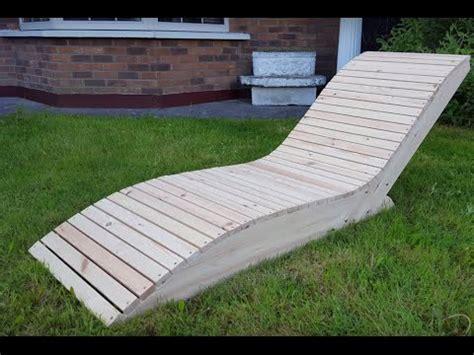 chaise longue en palette bois comment faire une chaise longue