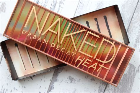 urban decay naked heat palette swatches  review