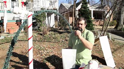 how to fix christmas lawn ornaments how to make light yard decorations